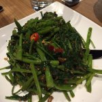 Water spinach with chilli prawn paste