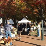 Saturday farmers market is a few steps away