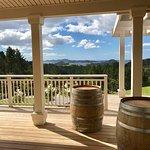 Outdoor wine tasting area