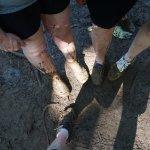 It was muddy!