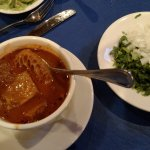 Menudo - tripe soup (so flavorful, a bit spicy, tripe cooked to tender perfection)