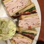 Triple Decker Club w/Cole Slaw at Sherman's Deli & Bakery