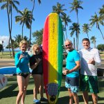 the 4 of us newbie surfers