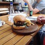 Italian hamburger and chips