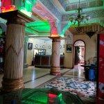 Hotel lobby and restaurant entrance
