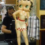 Betty Boop on the counter!