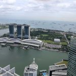 A view of Marina Bay Sand from One Raffles