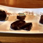 Chocolate flight with chocolate dipped bacon