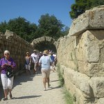 Leaving the Ancient Olympic Stadium