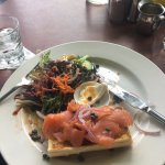 Salmon, cream cheese, capers baguette