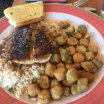 Blackened fish with okra