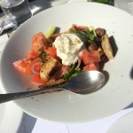 best greek salad at Senia Hotel restaurant
