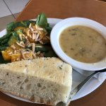 Soup and Salad lunch options, Stella's Cafe and Bakery 2000 Wellington Ave | Departure Level pre