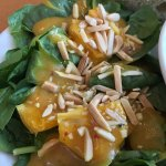 Delicious Spinach Salad, Stella's Cafe and Bakery 2000 Wellington Ave | Departure Level pre-sucu