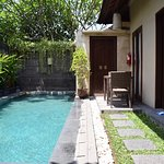 Private pool, Dining and Shower (behind closed door)