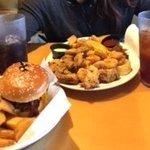 fryed oysters and hamburger