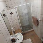 Leopard Room en-suite bathroom with spacious shower