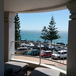 The best room :) Beach view balcony of the King Suite.
