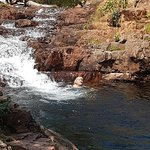 Swimming at Wangi Falls in NT.....rock pools...great