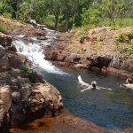 Just floating down in the rock pools, Wangi Fall....so much fun...