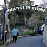 End of Shanklin Chine walk - the other way in