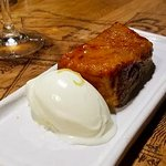 French Toast with fresh cheese ice cream.