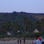 Magical sunset at Vagator beach