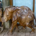One of the lovely carvings for sale in the shop