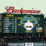 D-Backs line-up and Cubs field positions