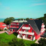 Unser Hotel mit Blick auf die Ostsee