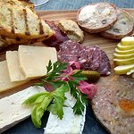 Charcuterie and Cheese (Wild Boar Country Pate, Venison Salami, Rabbit in Porchetta, various che