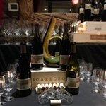 Set-up for PlumpJack wine dinner