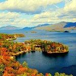 Lake George Aerial in Fall