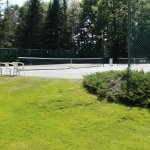 Two tennis courts with free use of rackets and balls