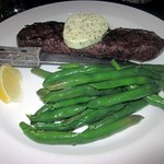 Steak Frites (8 oz. Sirloin) with Herb Butter & Green Beans