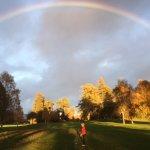 Rainbow over the golf course!