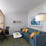 Guestroom Living Space at the SpringHill Suites by Marriott Lake Charles