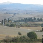 View from the grounds of Colombaiolo into the Val d'Orcia
