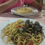 Spaghettie alla Vongole en Spaghetti Carbonara