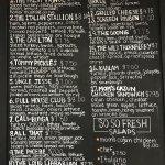 Sandwich and Salad menu