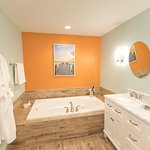 Spacious bathrooms in all our suites. Ask about our new premium suites.