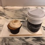 Hazelnut Chocolate-Filled Cupcake & Earl Grey Tea