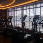 Gym Area with swimming pool view