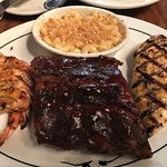 Shrimp - ribs and chicken