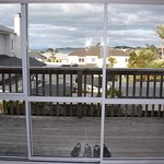 See the sea? Fairly private balcony.