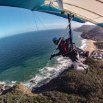 Hang Gliding with Curt Warren over Stanwell Tops, NSW, Australia