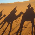 On our way to the deep camp in the Sahara