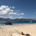 Beach view over Lombok