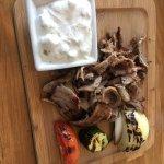 Tri-tip Doner-Gyro with tzatziki Sauce