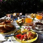 """""""Typical"""" breakfast spread; everything fresh and delicious"""